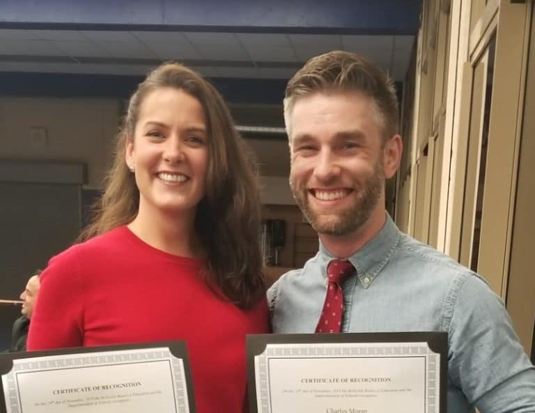 2018-2019 Exemplary Elementary Educator Award Recipients Charlie and Christine Moran