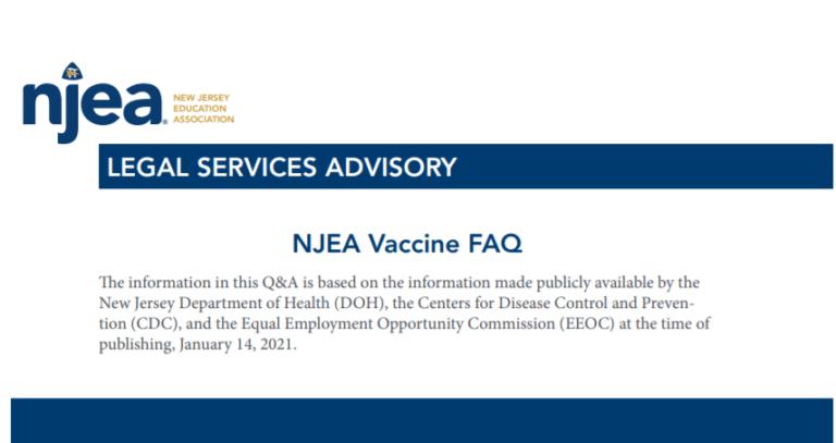 NJEA Vaccine FAQs