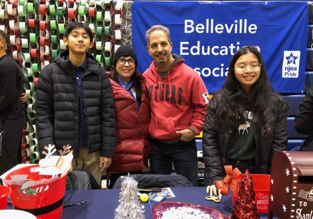 BEA Pride photo booth at Belleville Christmas Tree Lighting